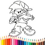 Friday Night Funkin Coloring Book for PC