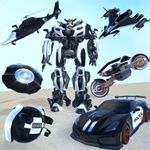 Flying Grand Police Car Transform Robot Games for PC