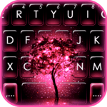 Neon Pink Galaxy Keyboard Theme for PC