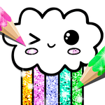 Kawaii Coloring Book Glitter for PC