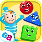 Learn shapes and colors for toddlers kids for PC