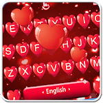 Red Heart Love Keyboard Theme for PC