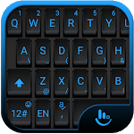 Simple Black Blue Keyboard Theme for PC