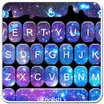 Sparkling Galaxy Keyboard Theme for PC