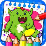 Monsters - Coloring Book & Games for Kids for PC